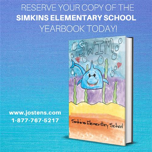 Reserve your copy of the Simkins Yearbook today with image of yearbook