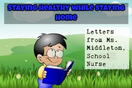 boy reading - staying healthy while staying at home - letters from Ms. Middleton, school nurse