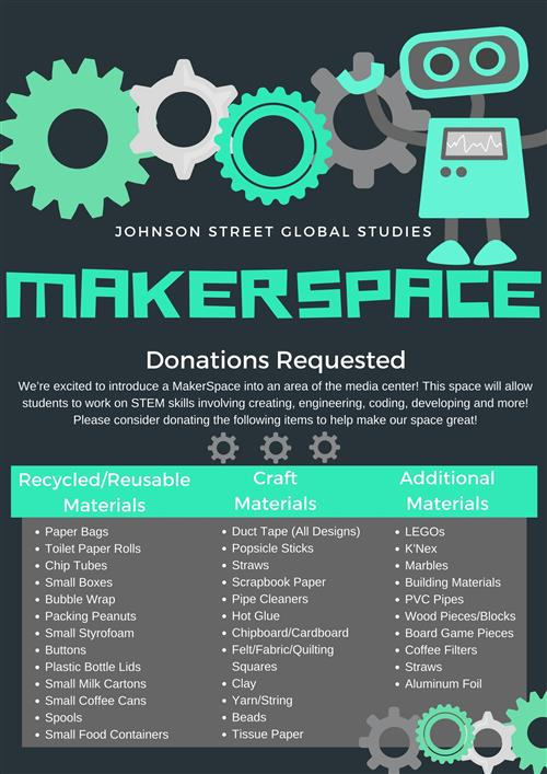MakerSpace Donations Request