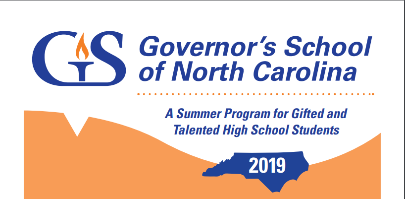 Juniors: Governor's School 2019 Session Information
