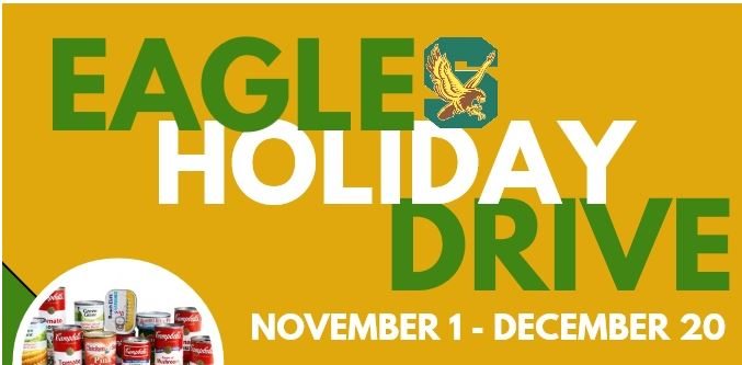 Eagles Holiday Drive: November 1st- December 20th, 2018