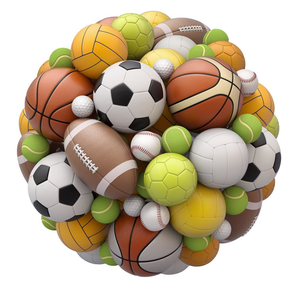 Picture of all different types of balls