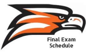 Southeast Guilford High School Final Exam Schedule with Falcon Head logo