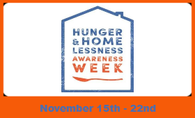 Hunger and Homelessness Awareness Week logo