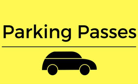 Parking Pass sign with black car