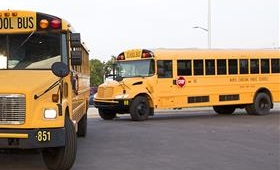 Two school buses
