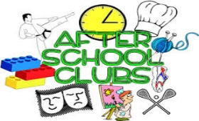 art of a variety of after school clubs