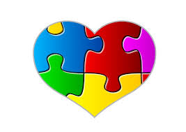 Autism Heart with many colors