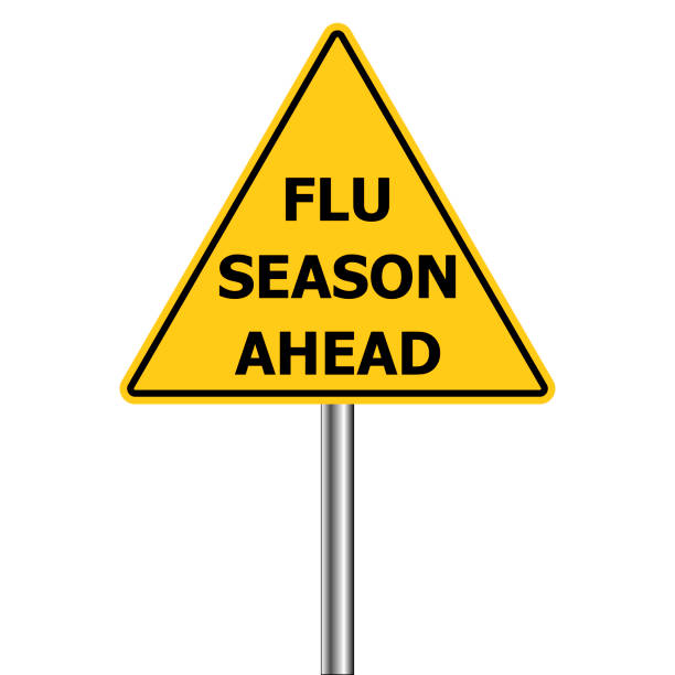 Cold and flu season ahead sign