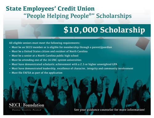 State Employees Credit Union Scholarship Opportunity!
