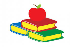 image of books and apples