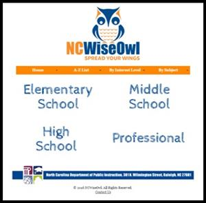 image of NC Wise Owl homepage