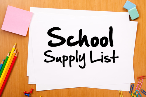 2020-2021 Distance Learning Supply Lists