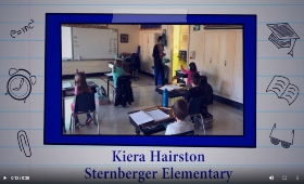 image of Ms. Hairston teaching in her classroom