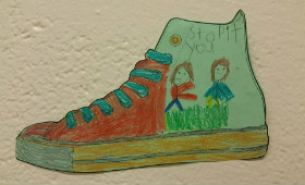 shoe decorated for anti-bullying campaign