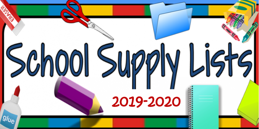 GCS 2019-2020 School Supply List