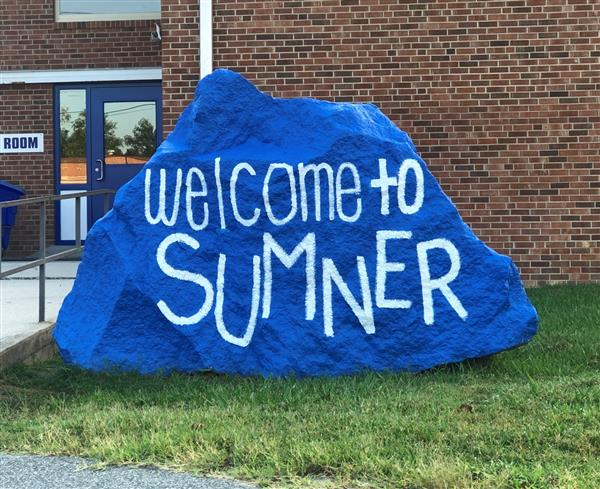 Welcome to Sumner on blue rock