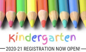 Colored pencils kindergarten 2020-21 Registration Now Open!