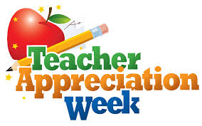 Teacher Appreciation week with a pencil and apple.