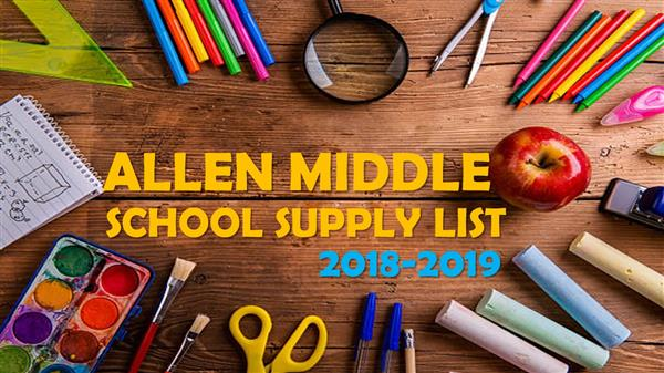 Summer School supply list logo with pencils and paper and items as around wording