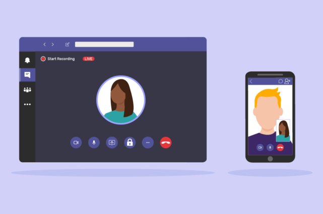 Microsoft Teams on the Laptop and on the Phone