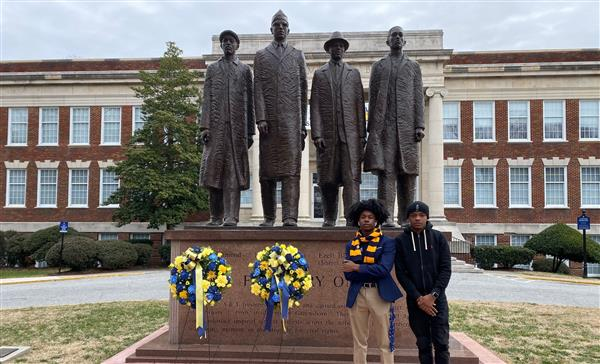 Students on NC A&T Campus