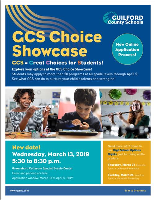 GCS Choice Showcase Flyer