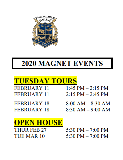 2020 Magnet Events