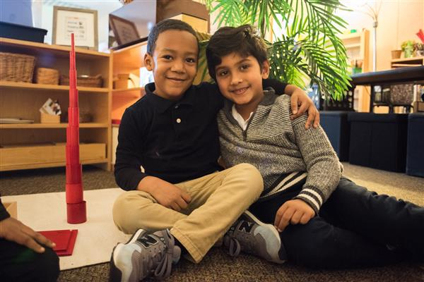 Students at Triangle Lake Montessori