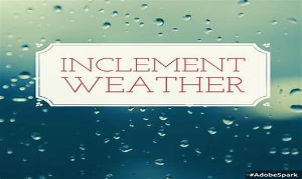 Inclement Weather Schedule
