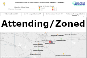 This dashboard shows the school students attend and the schools those students are zoned to attend.