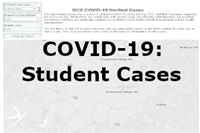 This shows verified COVID-19 cases among GCS students that may impact a school site.