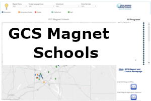 This dashboard provides a map of magnet/choice schools, programs offered, and links to school website.