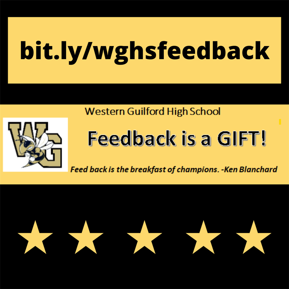 Feedback is a gift image with bit.ly/wghsfeedback