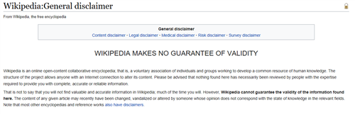 Screenshot of Wikipedia Page