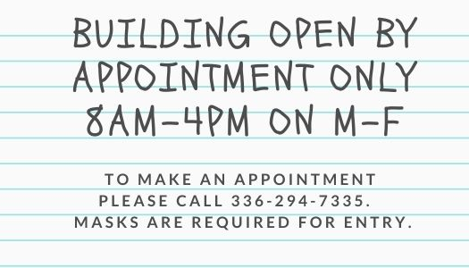 Building Open By Appointment Only