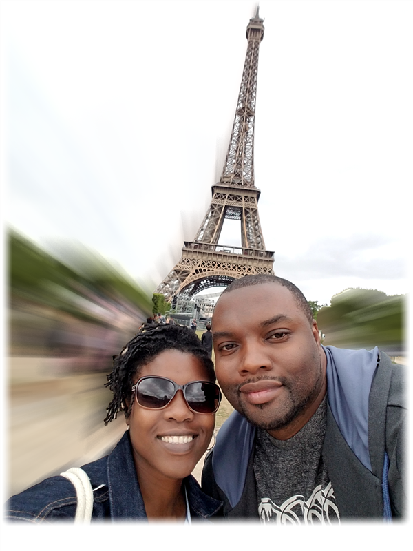 Larry and his wife in Paris.
