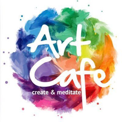 """Art Cafe"" with rainbow paint"