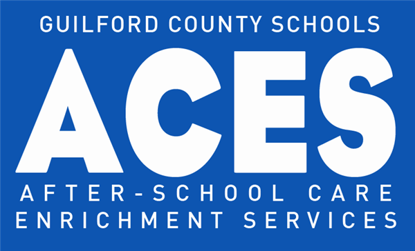Guilford County Schools  Aces blue and white banner