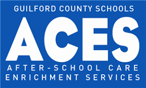 Blue and White GCS ACES Logo