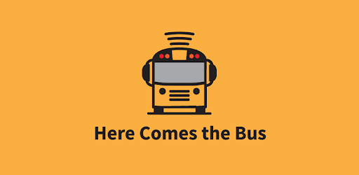 This is a picture of the new Here comes the bus school bus tracking app