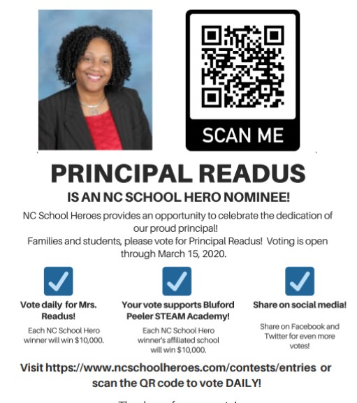 Vote for Principal Johnita Readus