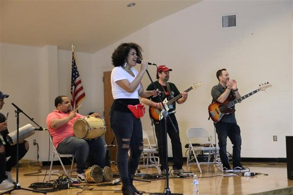 Andre Veloz Performs at Brightwood Elementary