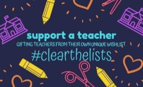 support a teacher / gifting teachers from their own unique wishlist / #clearthelists