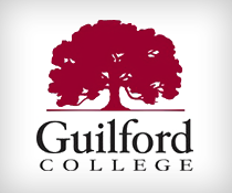 red tree with guilford college logo