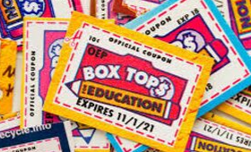 image of a pile of box tops