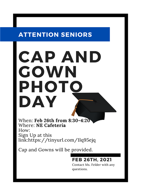 CAP AND GOWN PHOTO DAY