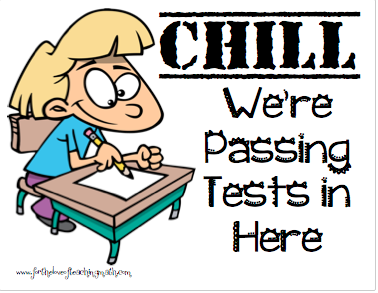 Shh.  We are passing a test.