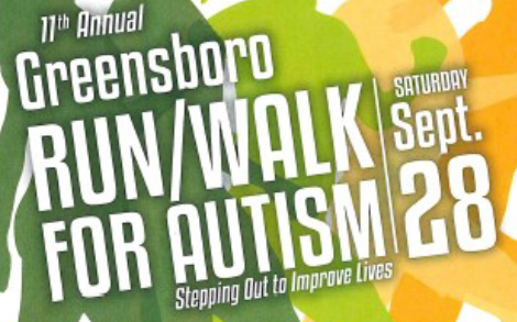 11th annual Greensboro Run/Walk for Autism, Sep 28