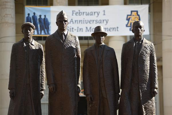 Greensboro 4 Statue at NC A&T